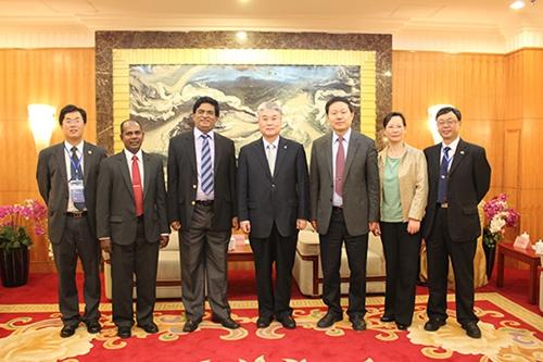于志刚校长表示,中国海洋大学已经和印度洋上的一些国家的科研机构和
